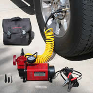 12 Volt Air Compressor Portable Air Pump 12 volt Tire Inflator Air Compressor by SuperFlow for inflating